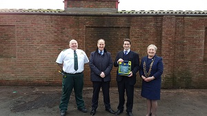 Photo shows (l-r) Dave Jones, Kevin Hollinrake, Guy Armitage and Coun Sonja Crisp, the Lord Mayor of York.