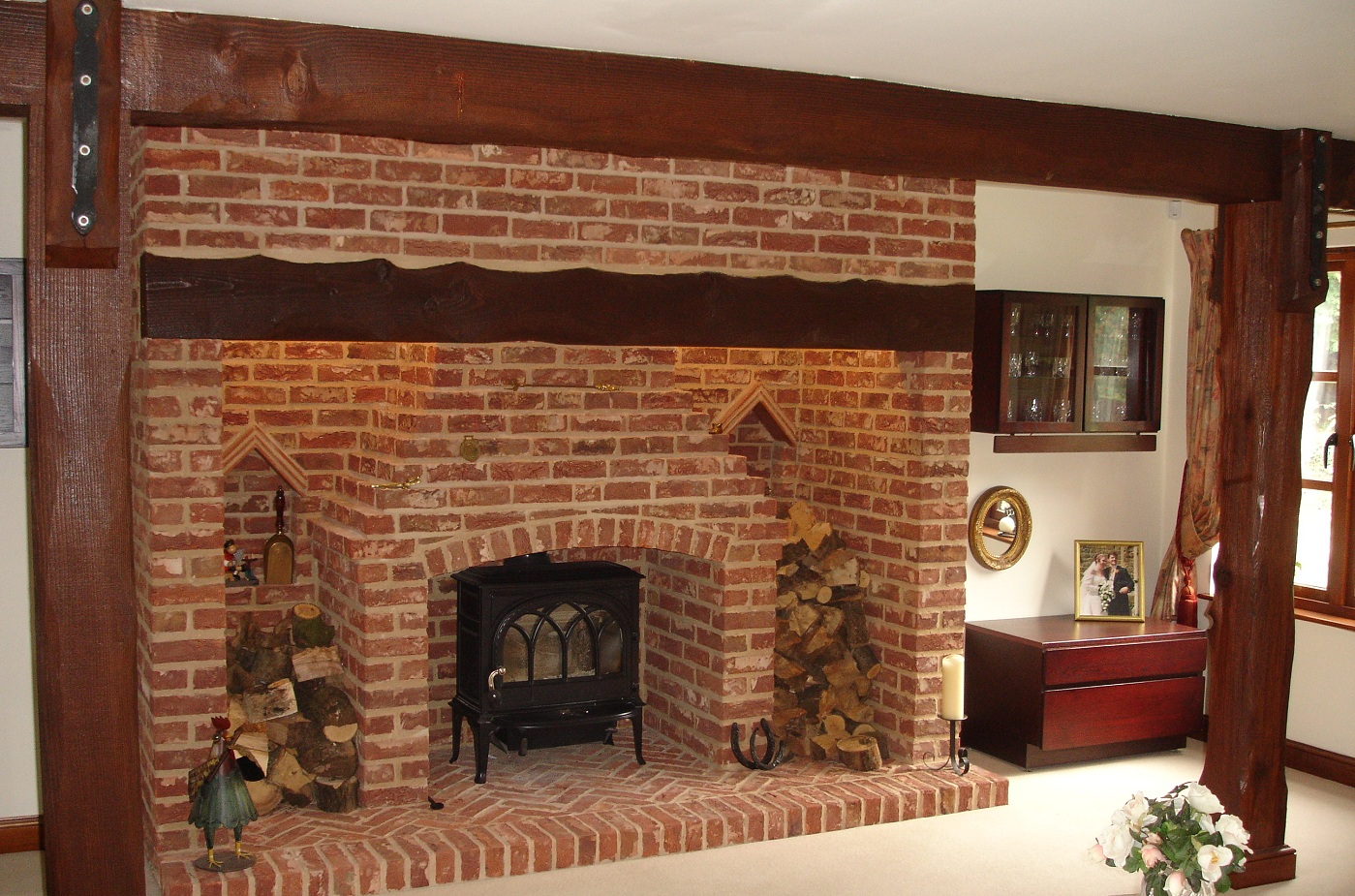 Nothing has the appeal of brick when it comes to fireplaces